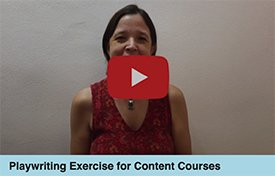 Tere Martínez. Playwriting Exercise for Content Courses.
