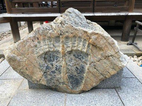 Footprints at Kiyomizu Temple